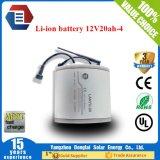 Soem-Größe 20ah 12V Li-IonLiFePO4 Batterie für Solar-LED-Licht