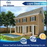 Casa prefabricada del panel de emparedado del cemento de 2 suelos EPS en la cara del país
