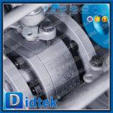 DIN Didtek brida metálica de acero forjado terminado sentado Válvula de bola flotante