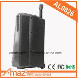 Haut-parleur actif intense de chariot à amplificateur de puissance d'Amaz avec Bluetooth 8 pouces