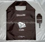 Soft 210D polyester cadeau promotionnel Sac shopping pliable
