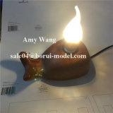 [لد] مصباح حامل قشرة قذيفة مع الطّرازيّة خشبيّة سريعة