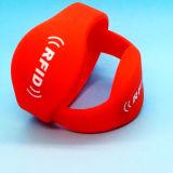 Wristband del silicón RFID de ISO14443A MIFARE DESFire EV1 2K