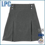 Girl Lycra Quatro Botão Pleat School Uniform Skirt