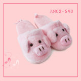 New Winter Warm Cartoon Cute Pig Indoor Sapatos Casual Chinelos