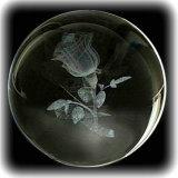 3D grabado láser cristal claro bola de cristal para los recuerdos