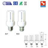 Gerade Grundregel-Energieeinsparung-Lampe der u-Form-3u 9W CFL