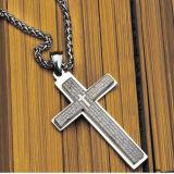 Bijoux fantaisie pour hommes Collier pendentif en croix Pendentif en acier