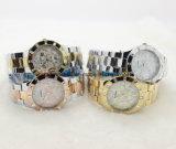 Высокое качество шикарный женщин Rhinestone часы золото стали платья дам смотреть