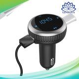 Le nécessaire de véhicule de Bluetooth avec 2.1A émetteur FM conjuguent joueur de musique MP3 de chargeur de véhicule d'USB