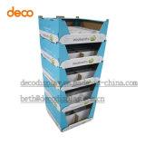 Cabina de visualización de papel, caja de presentación, soporte de visualización de suelo, visualización de la cartulina