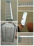 Escalera de acero fabricada meatal industrial usada