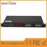 管理された28のポートのファイバー産業SFPのイーサネットスイッチ