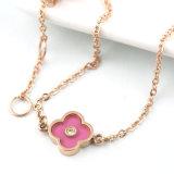 여자 스테인리스 보석에 의하여 주문을 받아서 만들어지는 형식 다이아몬드 꽃 매력 팔찌