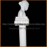 Busto de mármol blanco del eros joven Mbt1702