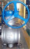 Válvula de esfera excêntrica Bq340m-16c do dobro do atuador da Sem-fim-Engrenagem meia