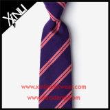 100% шелк ручной работы из жаккардовой ткани фиолетовый Designer галстук для мужчин
