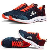 Zapatos corrientes de los adultos del acoplamiento de Flyknit de la zapatilla de deporte superior de los deportes con la planta del pie del amortiguador