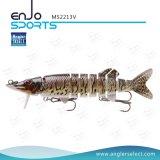 マルチセクションプラスチック釣は懸命に沈降の餌の三重のホックの釣り道具を魅惑する