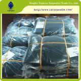 Bâche de protection noire imperméable à l'eau de haute résistance de PE pour le revêtement