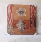 Изображение декоративной холстины дома картины цветка бутылки вися