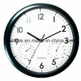 Horloge de quartz en plastique de mur de bâti pour à la maison et le bureau dans le prix bas