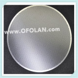Maille métallisée perforée en titane en platine
