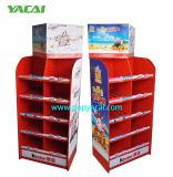 Visualización Point of Sale vendedora caliente de la cartulina, estante de visualización de papel para el almacén