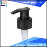 Plástico de color negro dispensador de jabón tornillo descriptiva de la bomba de loción