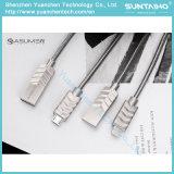 De 2017 Muelle de aleación de zinc cable micro USB para Android Samsung /Xiaomi/Teléfono Móvil de Huawei