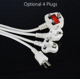 Soquete vertical portátil com o USB com proteção da sobrecarga
