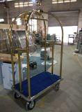 Chariot à bagages en acier inoxydable Trolley d'entrée d'hôtel