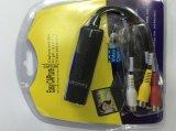 1つのチャネルの可聴周波ビデオ捕獲記録のための容易な帽子USB DVR