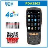 Colector de datos Handheld del androide 5.1 de la base 4G del patio de Zkc PDA3503 Qualcomm con el explorador NFC RFID del código de barras