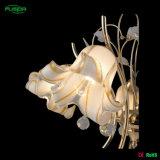 Lampade del soffitto del lampadario a bracci del fiore, indicatore luminoso di vetro del lampadario a bracci