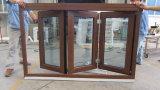 PVC二重ガラスのブラインド中の折るWindowsおよび木フレームのWindows