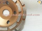 찬 - 콘크리트를 위한 눌러진 다이아몬드 컵 바퀴