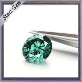 Diamante di Moissanite dei cuori e delle frecce di colori verdi