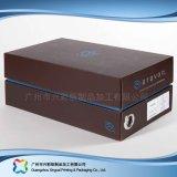 Papkappe u. Unterseiten-Verpackungs-Kleid-Kleidung-Schuh-Kasten (xc-APS-004)