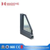 Double guichet en aluminium en verre protégeant du vent fabriqué en Chine