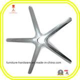 alumínio de cinco estrelas da base do giro para o carrinho móvel do instrumento das peças da mobília do dispositivo médico