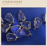 Accesorios de la joyería de la gema pendientes con el borde de cobre amarillo