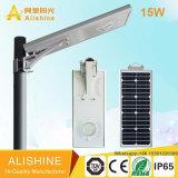 Luz de calle solar integrada del jardín de la nueva 15W lámpara al aire libre LED