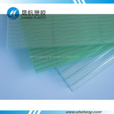 Feuille enduite UV transparente de toit de Policarbonato de cavité de polycarbonate