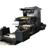 Dos colores empapelan la impresora flexográfica no tejida de Fabic del plástico