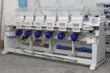 Máquina computarizada 6 cabeças do bordado do tampão de matéria têxtil
