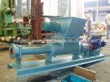 탈수했거나 탈수된 시럽 또는 탈수된 진창에 사용되는 열려있는 호퍼를 가진 단 하나 나선식 펌프