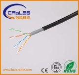 Cable de LAN impermeable del cable del certificado UTP Cat5e de la UL