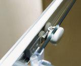 Portello di vetro dell'acquazzone dei quattro comitati con la mobilia di alluminio della stanza da bagno dello schermo del portello di vetro di scivolamento di difficoltà due di pagina due