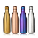 Изготовленный на заказ бутылка воды нержавеющей стали изолированная вакуумом